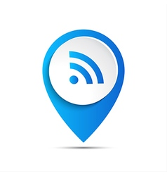 3d pointer with wifi icon vector