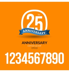Anniversary badge label ribbon sign design vector image