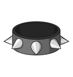 Bracelet with metal spikes icon cartoon style vector