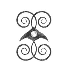 Drawing decorate ornate style object vector