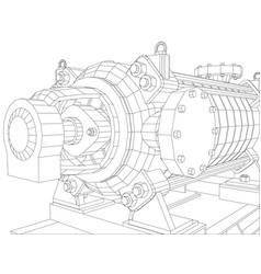Pumping unit oil industry vector