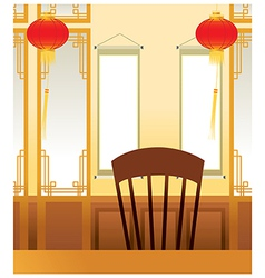 Asian oriental interior vector