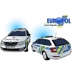 Czech police car vector