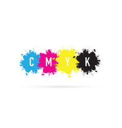 Cmyk splash background vector