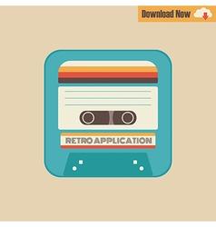 163tape cassette app vector