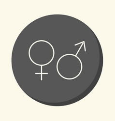 Signs of man and woman mars and venus vector