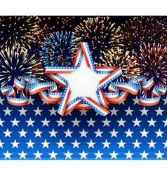 American background with fireworks vector