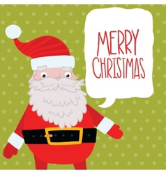 Santa claus with bubble speech vector