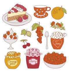 Fruit dessert vector