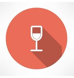 Wine glasses icon vector image
