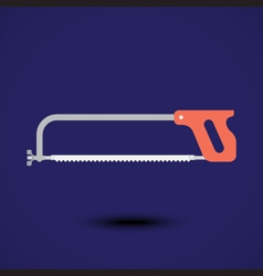 A cutting saw icon vector