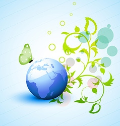 Nature eco background vector