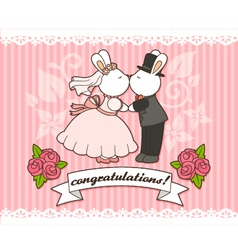 Wedding bunnies vector