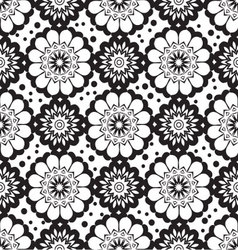 Geometric flower seamless pattern vector