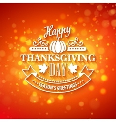 Typography design thanksgiving blurred and vector