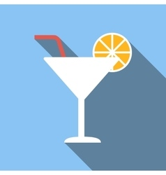 Cocktail colored flat icon vector