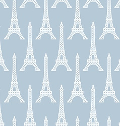 Eiffel tower seamless pattern french background vector