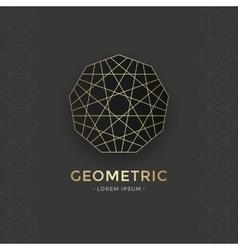Geometric sacred symbol vector