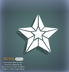 Star icon on the blue-green abstract background vector