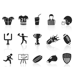 American football icons set vector