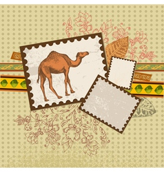 art camel3 vector image vector image