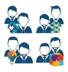avatar teamwork support design vector image vector image