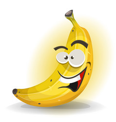 Banana fruit character vector