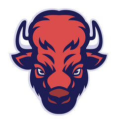Bison head mascot vector