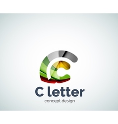 C letter concept logo template vector