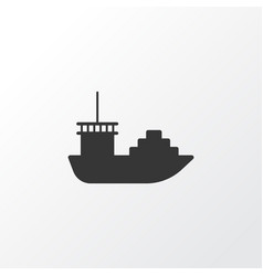 cargo boat icon symbol premium quality isolated vector image