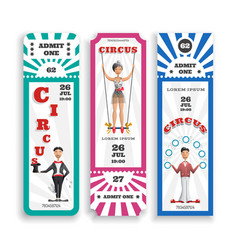 Circus entrance tickets vector