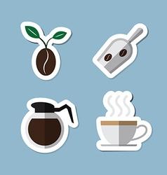 Coffee and tea flat icon set vector
