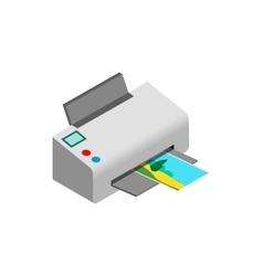 Color photo printer icon isometric 3d style vector