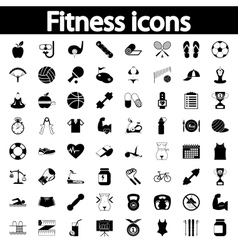 Fitness icons set vector image vector image