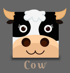 flat image of an cow face vector image vector image