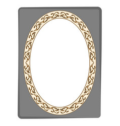 frame oval in rectangle card vector image