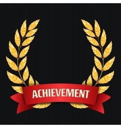 Gold Laurel Set Shine Wreath Award Design vector image vector image