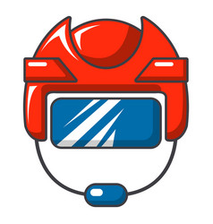 Hockey helmet icon cartoon style vector
