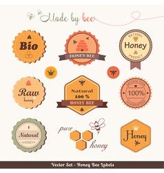 Honey bee labels vector