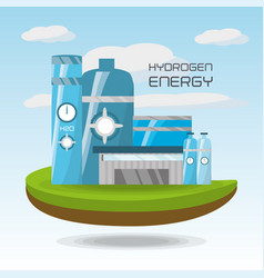 landscape related with hidrogen energy vector image