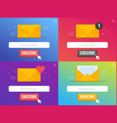 Modern pop-up subscribe form set for your website vector