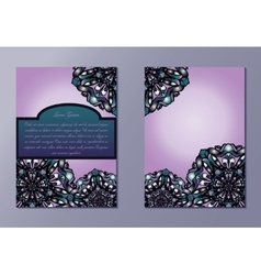 Pink and violet brochures or flyers or invitations vector