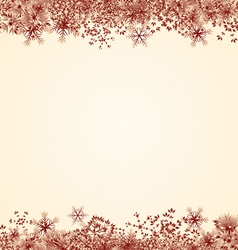 Red Snowflake Frame vector image vector image