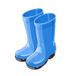 Rubber garden boots vector