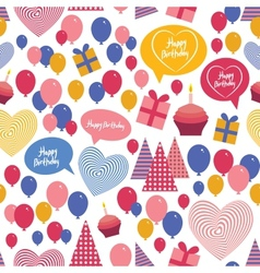 Seamless background - happy birthday Heart gift vector image
