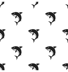 Shark icon in black style isolated on white vector