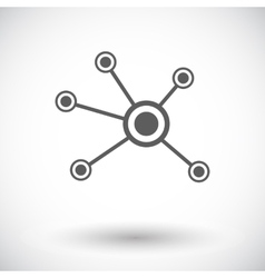 Social network single icon vector