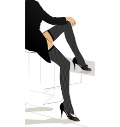 stocking girl vector image vector image