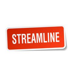 Streamline square sticker on white vector