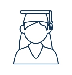 Student woman graduate vector